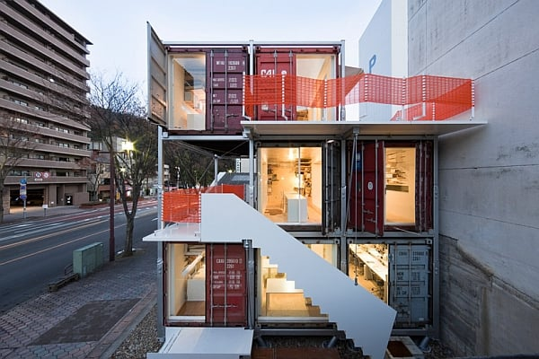 OFFICE FIRM BUILT FROM SHIPPING CONTAINERS