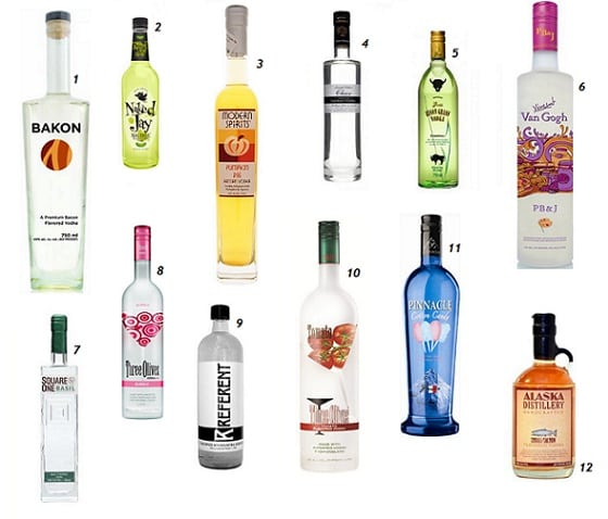 WORLD'S MOST BIZARRE VODKAS