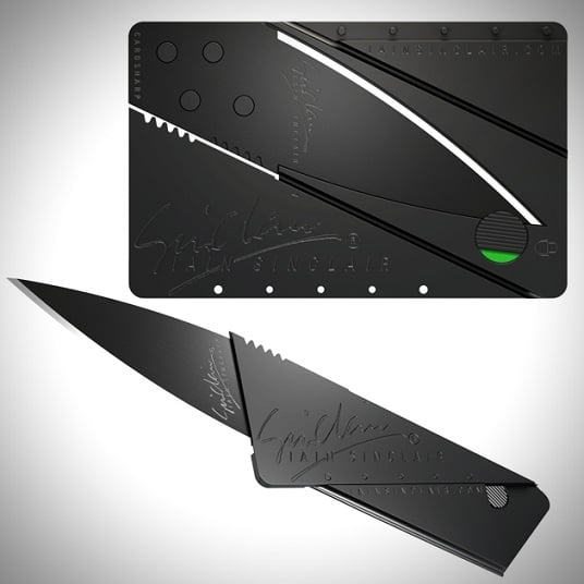 IAIN SINCLAIR CREDIT CARD KNIFE