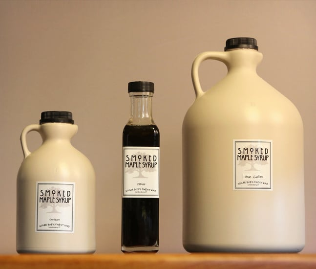 Cool Car Gifts For Guys: SMOKED MAPLE SYRUP