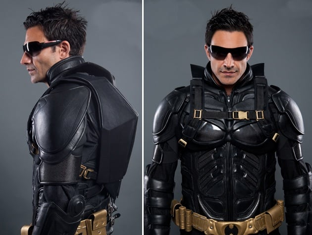 THE DARK KNIGHT RISES LEATHER MOTORCYCLE SUIT AND BACKPACK