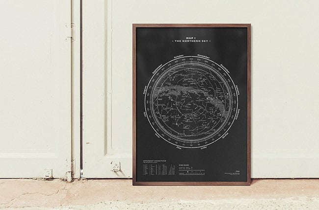 stellavie-print-silkscreen-stellar-map-northern-sky-silverwhite-on-black-100-large