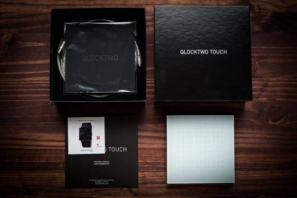 qlocktwo w watch and touch clock men 39 s gear. Black Bedroom Furniture Sets. Home Design Ideas