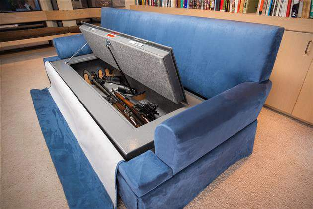 COUCHBUNKER | BULLETPROOF COUCH WITH GUN SAFE
