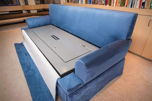 Couchbunker Bulletproof Couch With Gun Safe Men S Gear