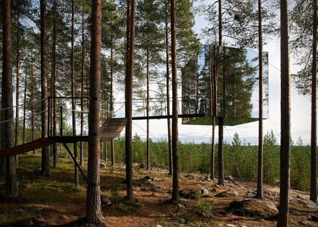 MIRRORCUBE TREE HOTEL IN SWEDEN
