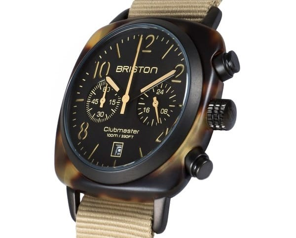 Briston clubmaster-chrono-matt-tortoise-shell