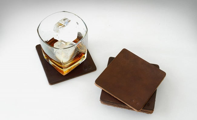 Leather Coasters by Desu Design