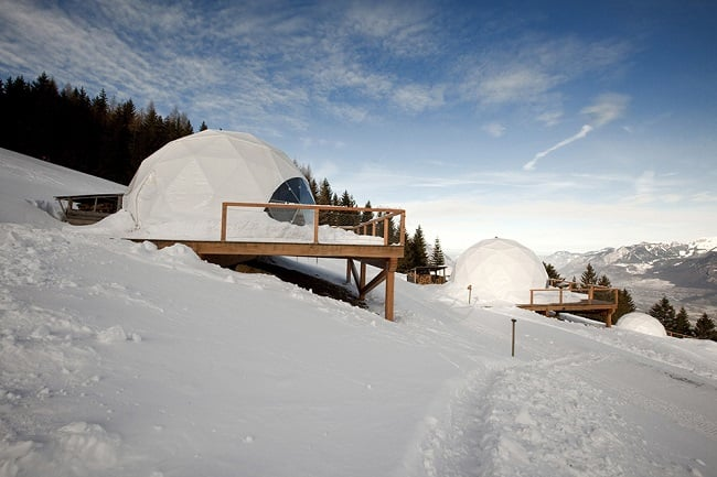 Whitepod Eco-Luxury Hotel In The Swiss Alps