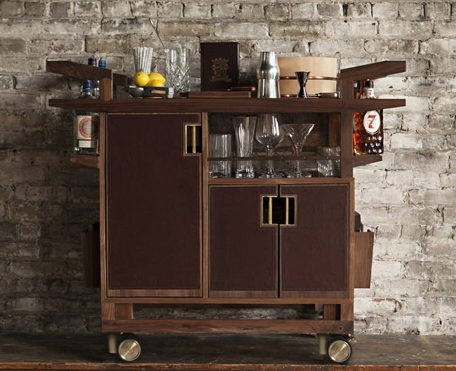 The Sidecar Bar Cart by Moore & Giles