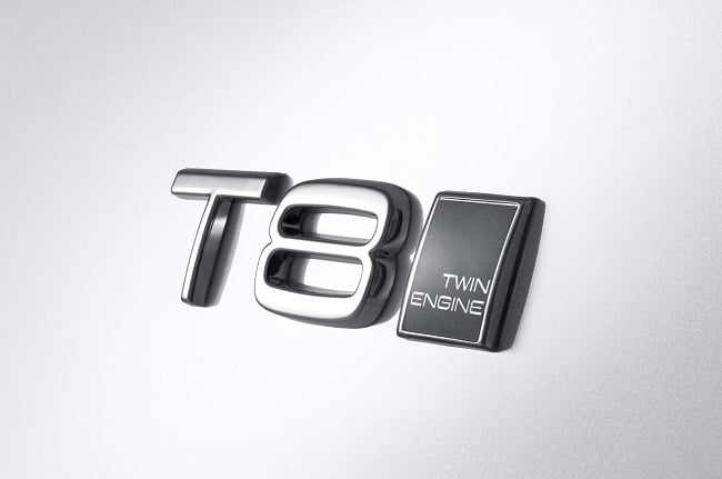 Volvo XC90 T8 badge