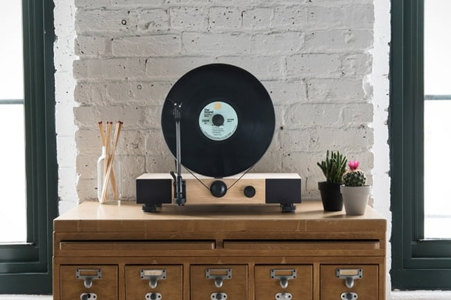 Floating Record Vertical Turntable 8