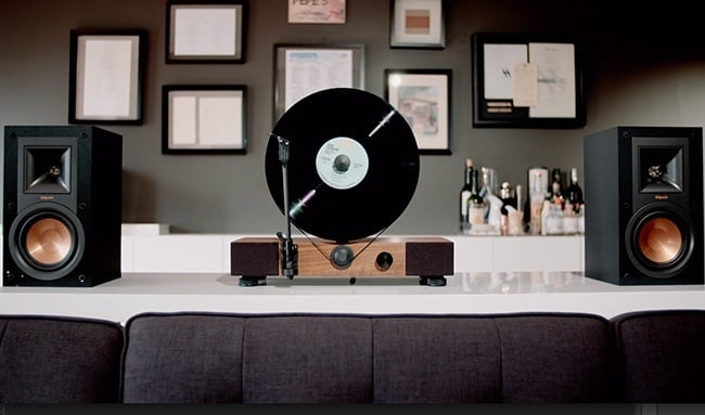 Floating Record Vertical Turntable 9