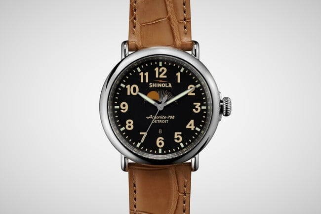 Shinola Runwell Moon Phase Watch