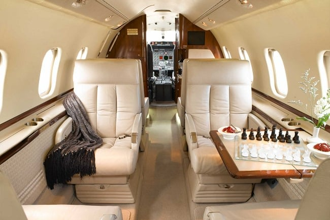 Charter-A Private Jets interior 1