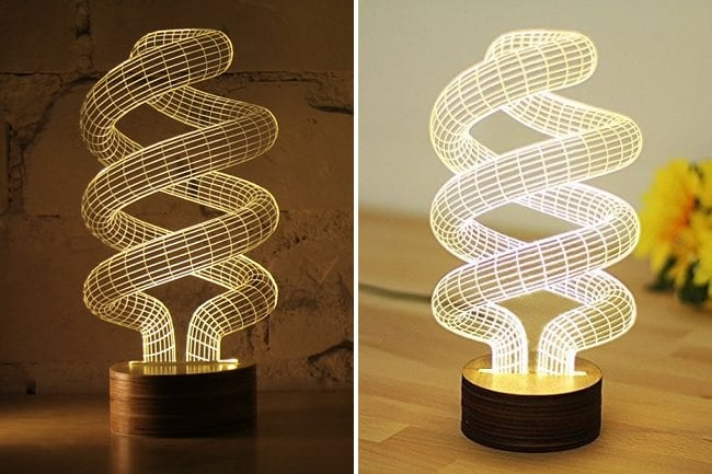 GLED Night Table Spiral Lamp 2