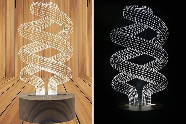 GLED Night Table Spiral Lamp 3