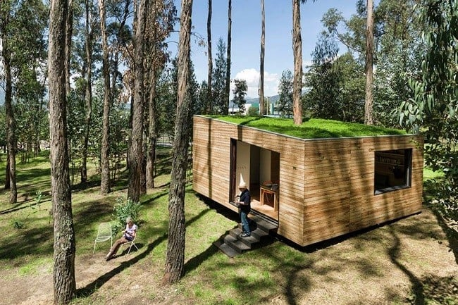 Tiny Green-Roofed Home In Ecuador