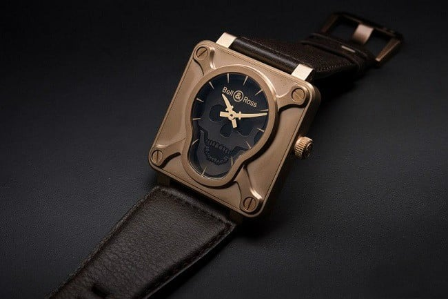 Bell & Ross BR 01 Skull Bronze Watch 4