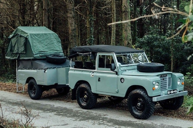 1982 Land Rover Series 3 + Camping Trailer 9