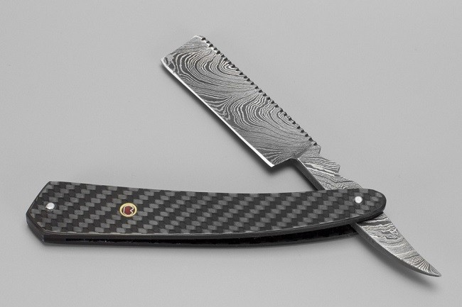 Bastion Damascus Steel Straight Razor 1