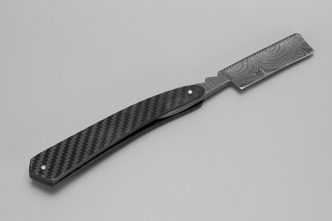 Bastion Damascus Steel Straight Razor 3