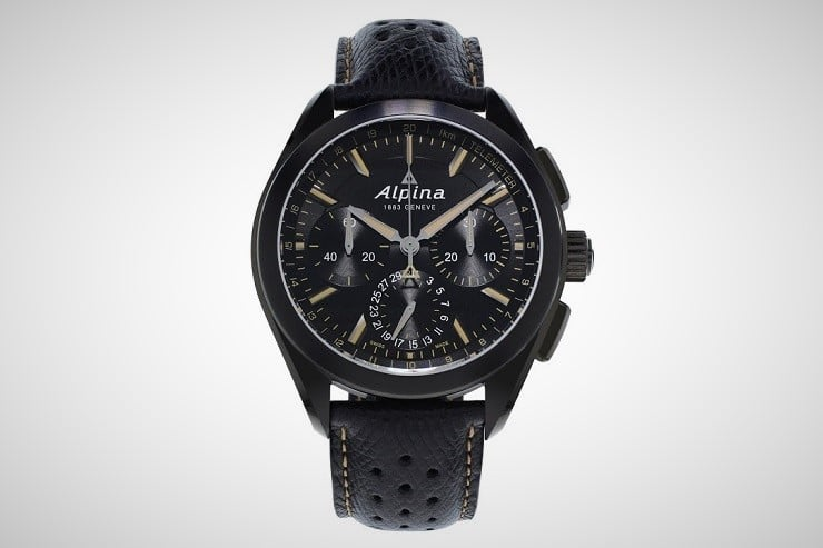 Alpiner 4 Black Flyback Manufacture Chronograph 3