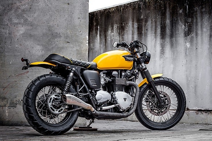 'The Wasp' Triumph Bonneville by Macco Motors 9