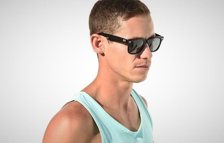 William Painter 'The Hook' Polarized Titanium Sunglasses 1
