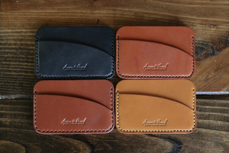 Arrow & Board Leather Wallets