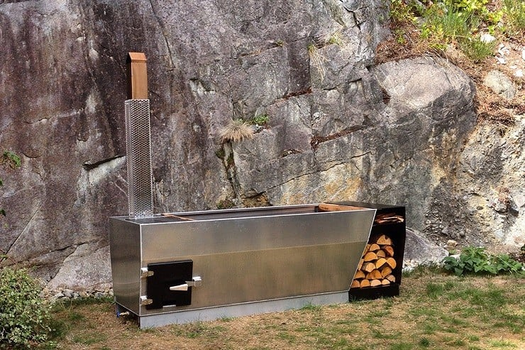 Soak Outdoor Wood-Fired Hot Tub