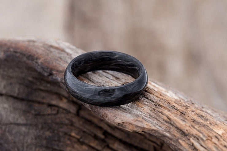 Forged Carbon Fiber Wedding Ring 1