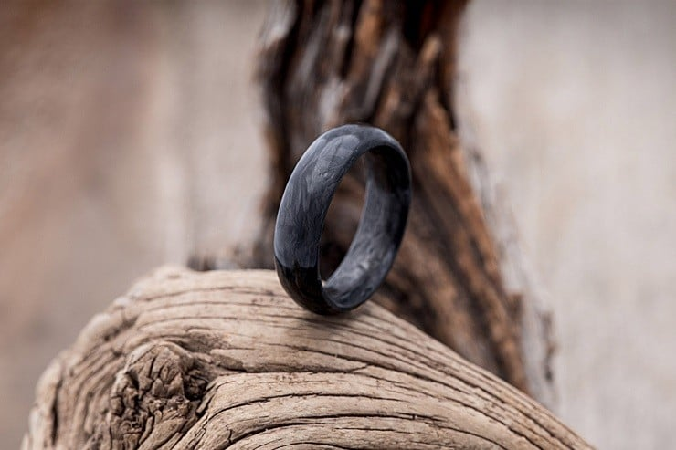 Forged Carbon Fiber Wedding Ring 3