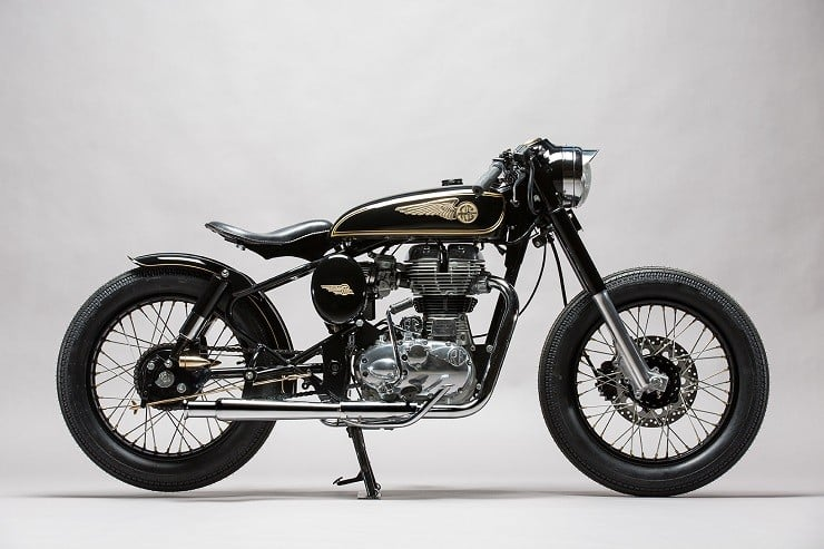 'Brass Rajah' Royal Enfield 350 by Mid Life Cycles