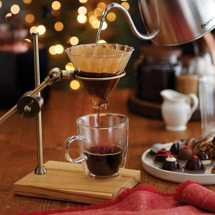 Pour Over Coffee Maker Vs Drip : Brass Pour-Over Drip Coffee Maker Men s Gear