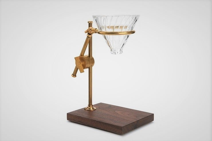 Brass Pour-Over Drip Coffee Maker