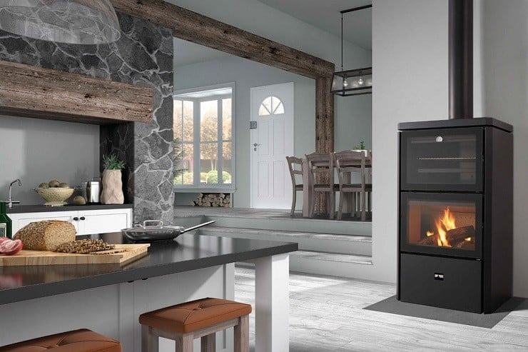 Hebar Wood-Burning Stove, Oven & BBQ
