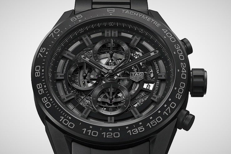TAG Heuer Carrera Heuer-01 Black Ceramic Watch