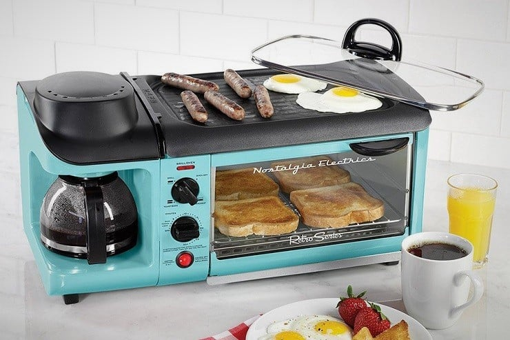 Nostalgia Electrics Jumbo Breakfast Station