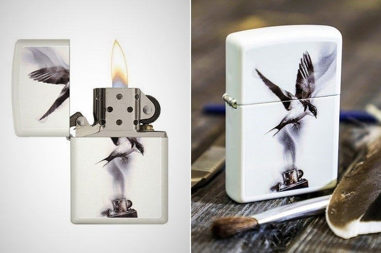 Flame Art Soaring Swallow Zippo Lighter