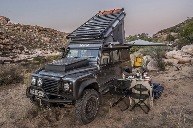 Land Rover 'Icarus' Rooftop Camper by Alu-Cab