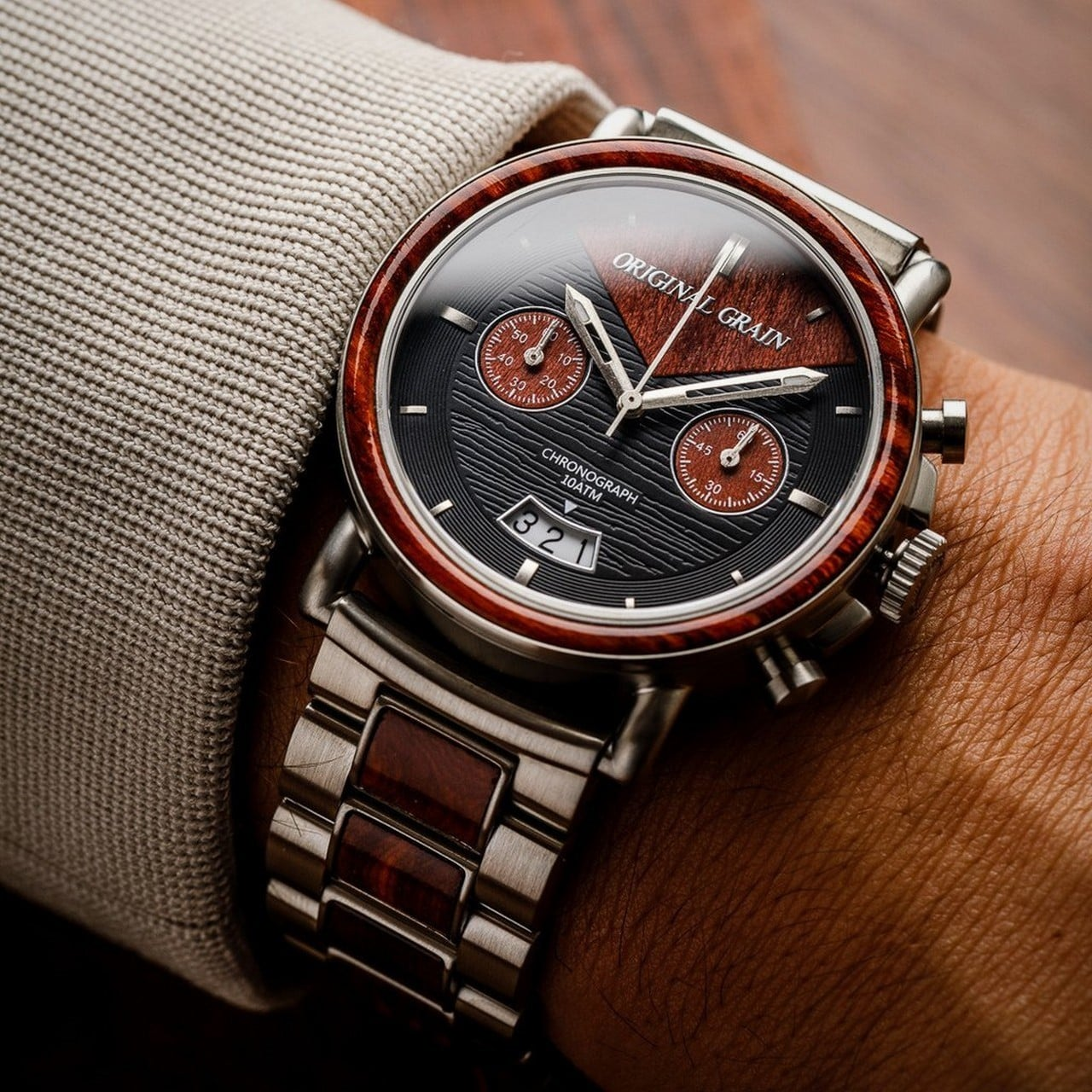 collections watches tagged wrist grain original the rosewood chrono vault wood
