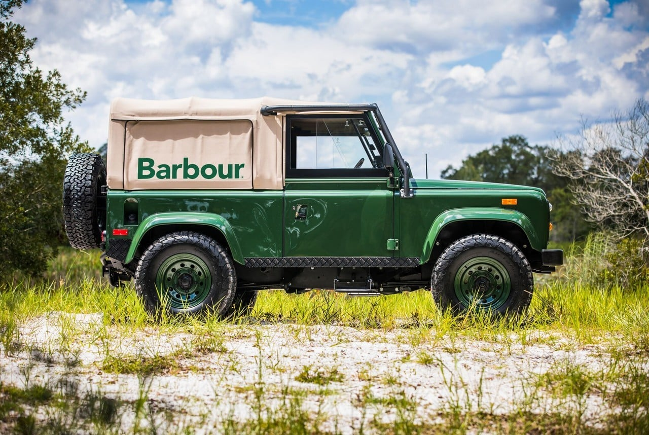 Project Barbour Land Rover Defender Giveaway Men S Gear
