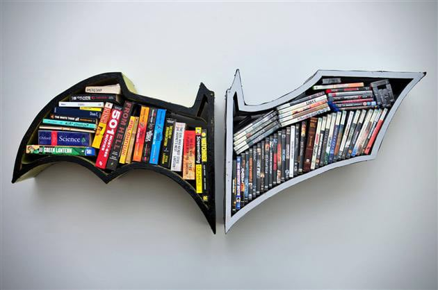 BATMAN THE DARK KNIGHT BOOK SHELVES
