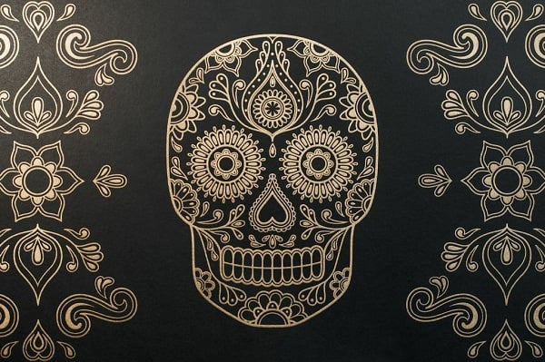 Day Of The Dead Sugar Skull Wallpaper Mens Gear