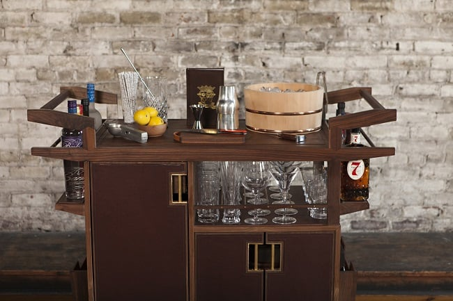 The Sidecar Bar Cart by Moore & Giles 6