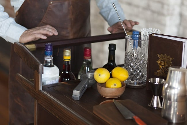The Sidecar Bar Cart by Moore & Giles 7