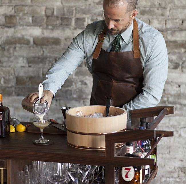 The Sidecar Bar Cart by Moore & Giles 9