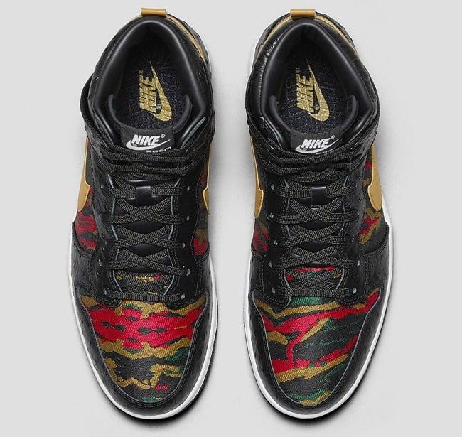 Nike Dunk High Comfort Premium Black Ostrich Men S Gear