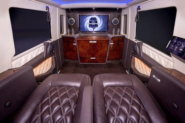 INKAS Armored Mercedes G63 AMG Limousine interior 3